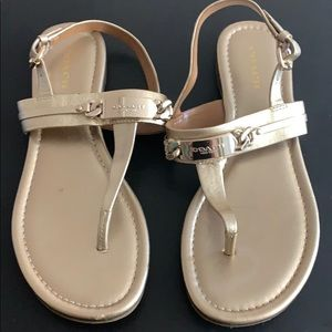 Coach thong sandals in gold